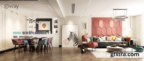 Modern style Livingroom Vray 09