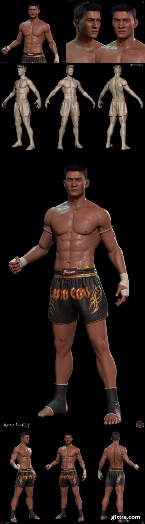 Nak Muay - Muay Thai Male Fighter 3D Model