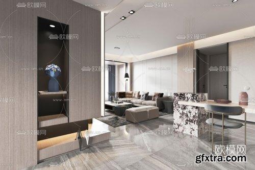 Modern living room 3d model 73105