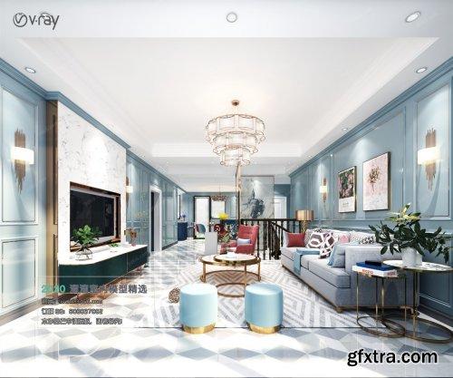 Modern style Livingroom Vray 37