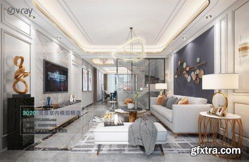 Modern style Livingroom Vray 38
