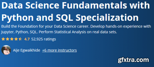 Coursera - Data Science Fundamentals with Python and SQL Specialization