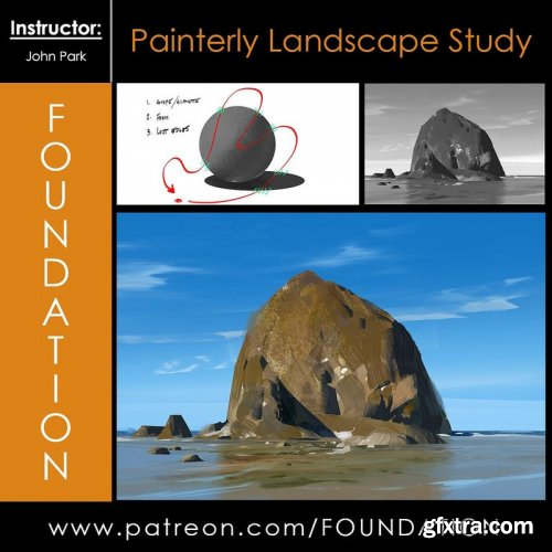 Gumroad - Foundation Patreon - Painterly Landscape Study with John Park