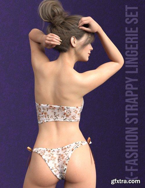 X-Fashion Strappy Lingerie Set