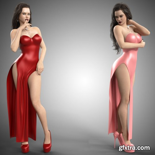 dForce Hot Dress for Genesis 8 Females