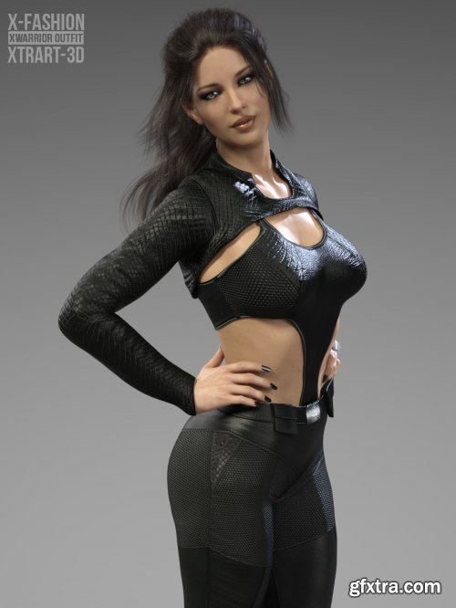 X-Fashion XWarrior Outfit for Genesis 8 Females