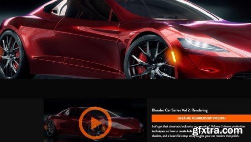 CGFasttrack - Blender Car Series Vol 2 Rendering