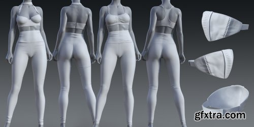 High Waisted Leggings Outfit for Genesis 8 and 8.1 Females