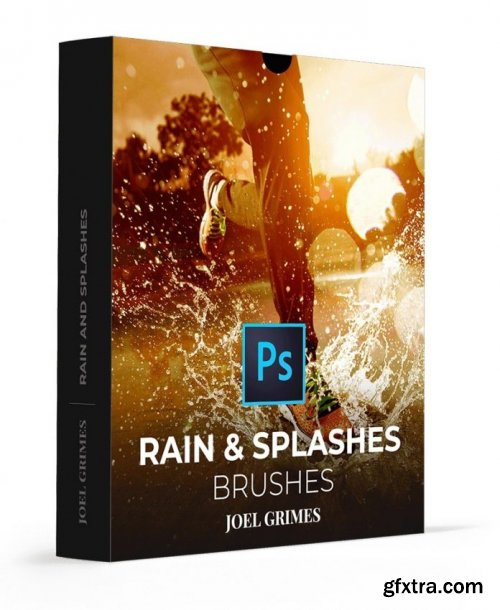 Joel Grimes - Rain and Splashes Photoshop Brushes