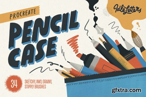 CreativeMarket - Procreate Pencil Case 5909559