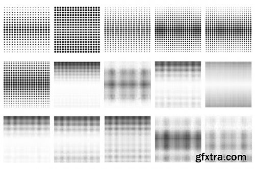 CreativeMarket - 60 Halftone Photoshop Brushes 6028561