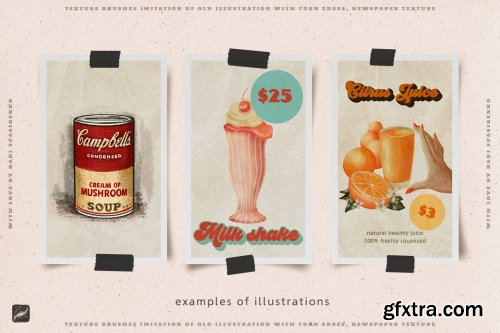 CreativeMarket - 70s Cafe Procreate Texture Brushes 5997668