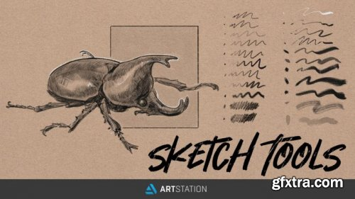 ArtStation - Sketch Tools - Traditional Sketch Brushes for Photoshop