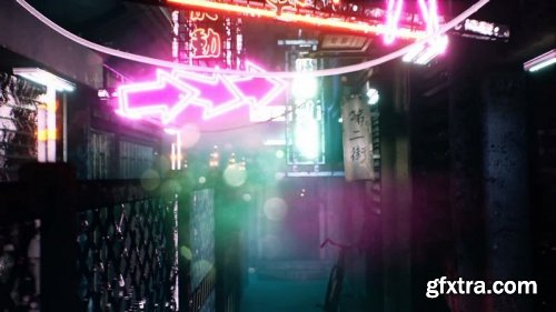 MotionArray – Neon City Alley Pack 874015