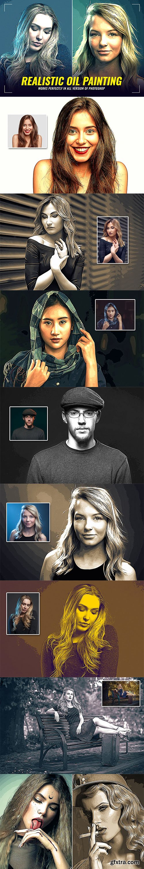 CreativeMarket - Realistic Oil Painting FX 5988848