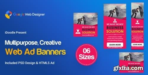 CodeCanyon - C108 - Multipurpose, Business Banners HTML5 ( GWD & PSD) v1.0 - 24070618