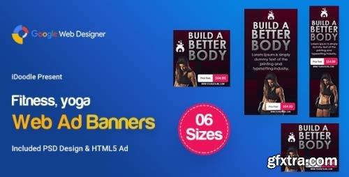 CodeCanyon - C109 - Yoga & Fitness Banners HTML5 - GWD & PSD v1.0 - 24070623