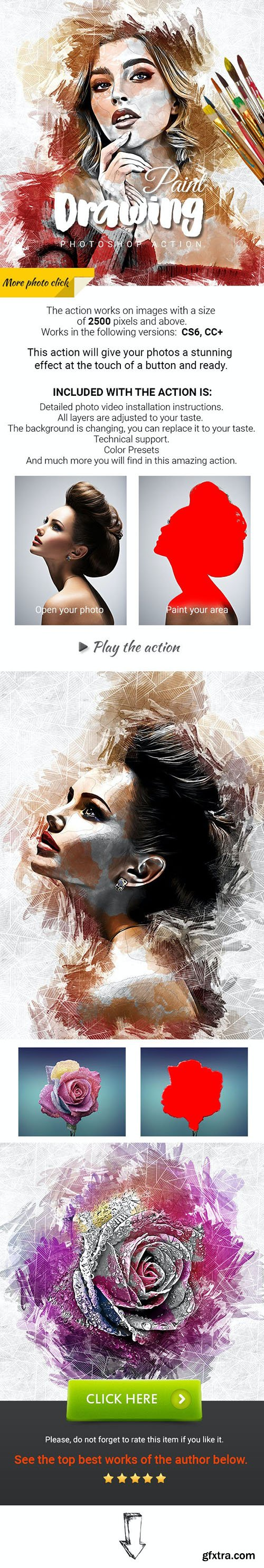 GraphicRiver - Drawing Paint Photoshop Action 31259536