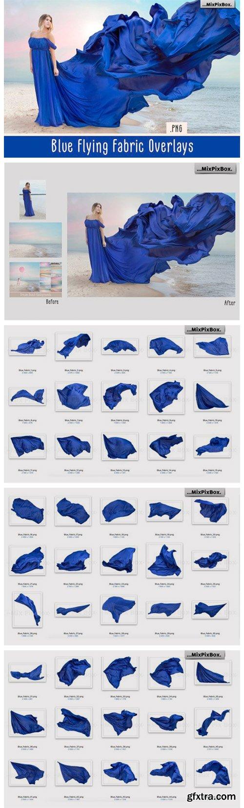 Blue Flying Fabric Overlays 4235920
