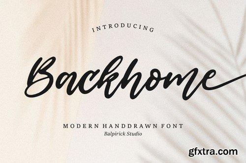 Backhome Brush Font