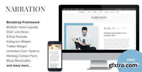 ThemeForest - Narration v1.8 - A Responsive WordPress Blog Theme - 14881472