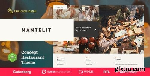 ThemeForest - Mantelit v1.0.6 - Restaurant WordPress Theme - 22198513