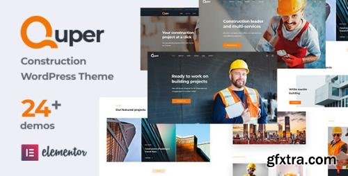 ThemeForest - Quper v1.7 - Construction and Architecture WordPress Theme (Update: 12 March 21) - 29101039