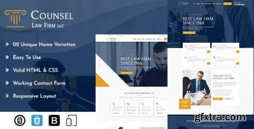 ThemeForest - Counsel v1.0 - Law Firm HTML - 31701866
