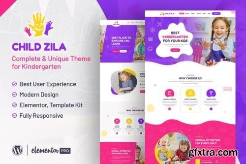 ThemeForest - ChildZilla v1.0.0 - Kindergarten Childcare Elementor Template Kit - 31798019