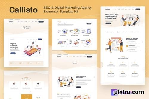 ThemeForest - Callisto v1.0.1 - SEO & Digital Marketing Agency Elementor Template Kit - 30492149