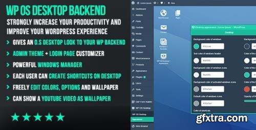 CodeCanyon - WP OS Desktop Backend v1.158 - More than a Wordpress Admin Theme - 15804874