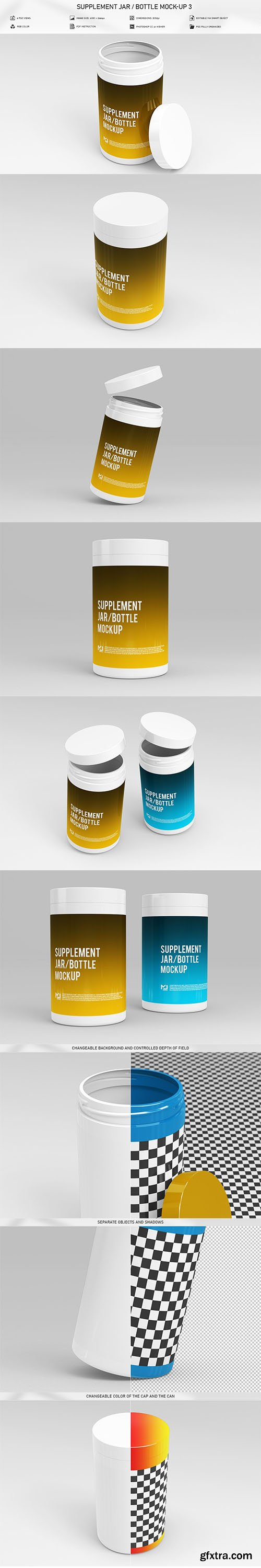 CreativeMarket - Supplement Jar / Bottle Mock-Up 3 5906977