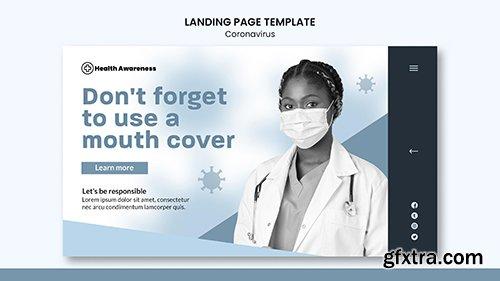 Landing psd page for coronavirus pandemic