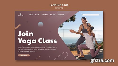 Landing psd page for yoga practice and exercise