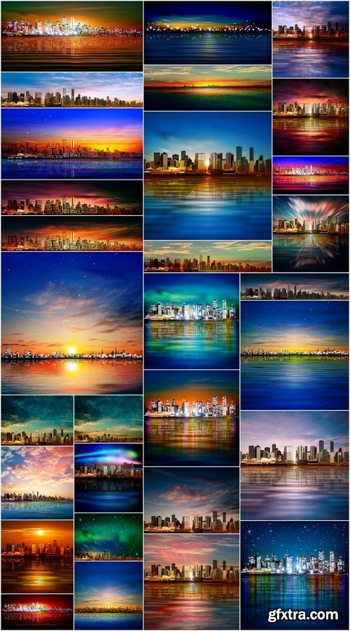 Background With Panorama City - 30xEPS Professional Vector Stock