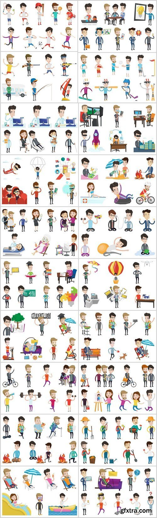 Business characters and life of people - 20xEPS