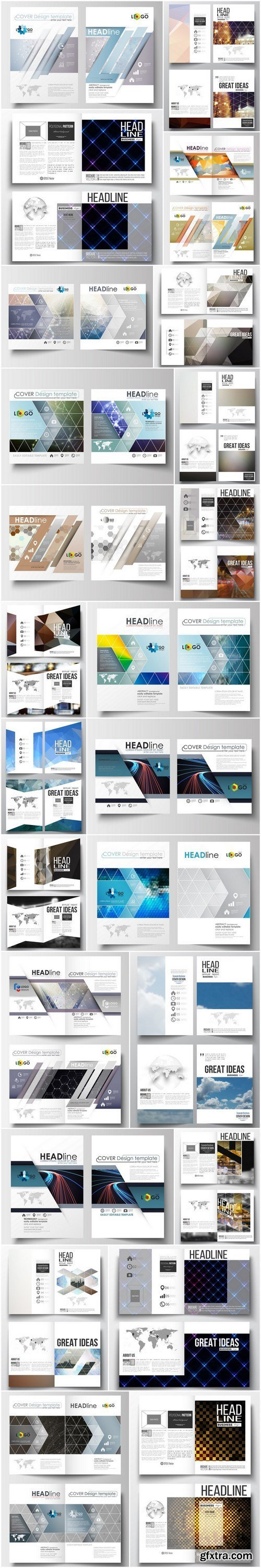 Cover design template, magazine, flyer, booklet or annual report 8 - 24xEPS Vector Stock