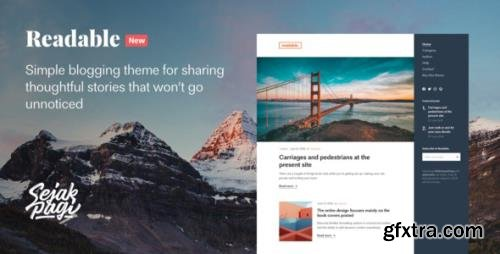 ThemeForest - Readable v1.0 - Simple Blogging Theme for Ghost - 27720800