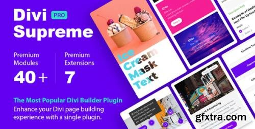 Divi Supreme Pro v4.3.6 - Custom & Creative Divi Modules To Help You Build Amazing Websites