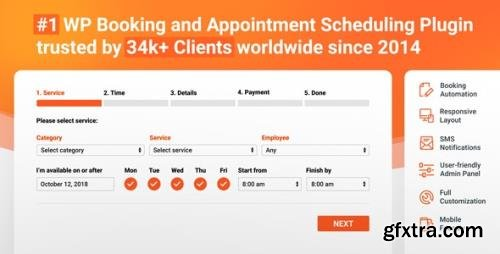 CodeCanyon - Bookly PRO v3.7 / Bookly v19.7 - Appointment Booking and Scheduling Software System - 7226091 - NULLED