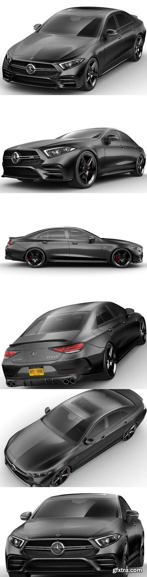 Mercedes CLS AMG 2019 Edition 3D Model