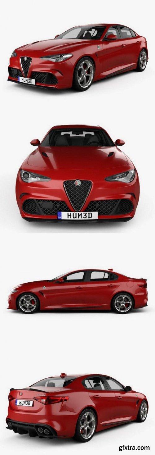 Alfa Romeo Giulia Quadrifoglio with HQ interior 2016
