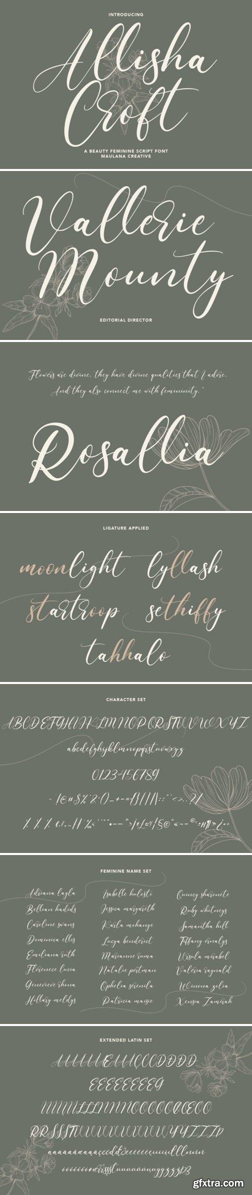 Allisha Croft Font