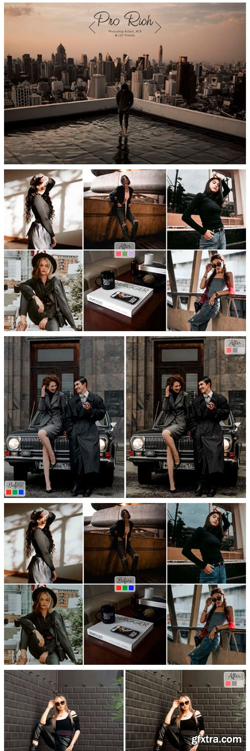 10 Photoshop Actions ACR LUT Neo Rich 11564119