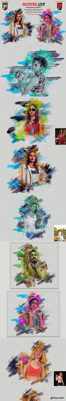 CreativeMarket - Grunge Art Photoshop Action 5808107