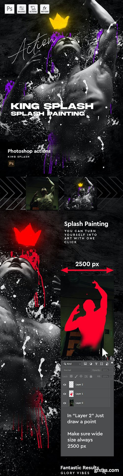 GraphicRiver - King Splash Painting Photoshop Action 30455842