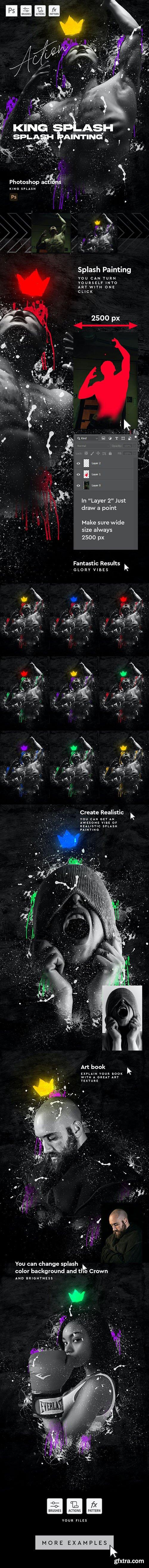 GraphicRiver - King Splash Painting Photoshop Action 30455842