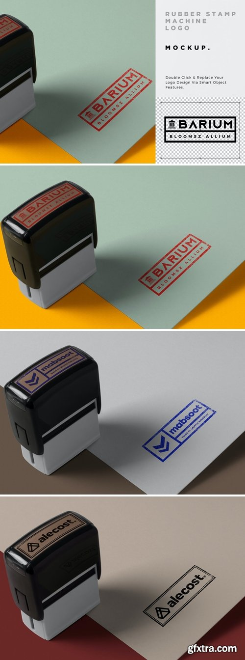 Stamp Print Logo Mockup