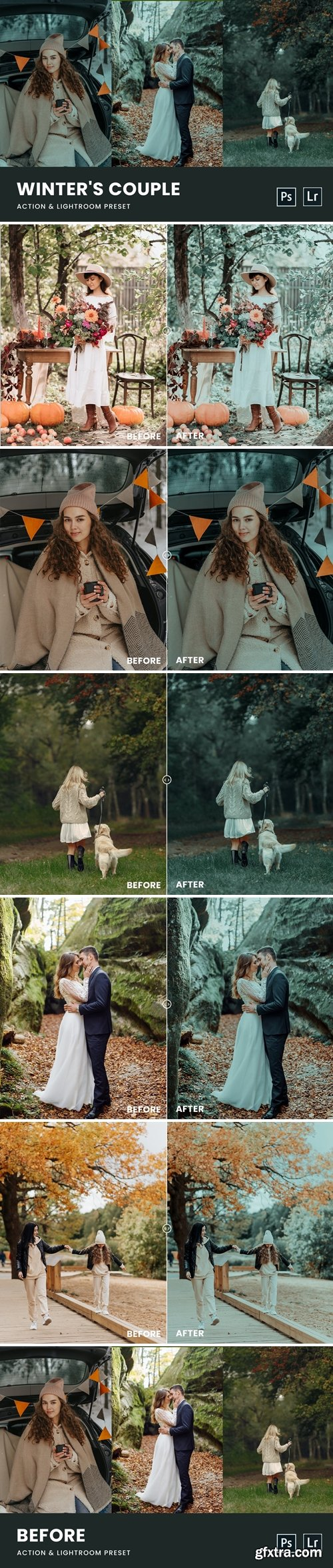 Winter\'s Couple Photoshop Action & Lightrom Preset