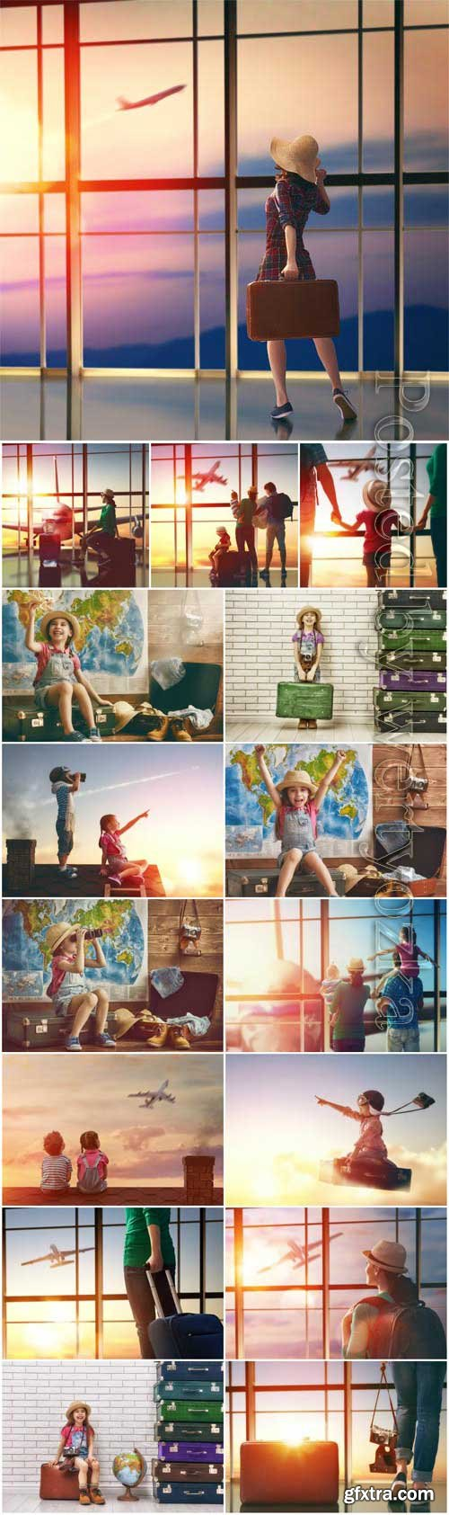 People and travel concept stock photo